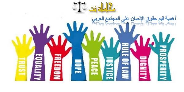 بحث قانوني يشرح أهمية قيم حقوق الإنسان على المجتمع العربي استشارات قانونية مجانية